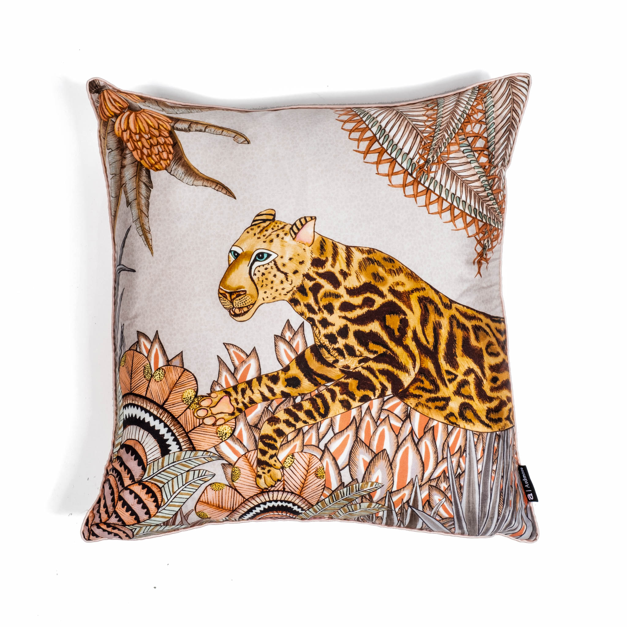 Cheetah Kings Forest Pillow - Silk - Magnolia