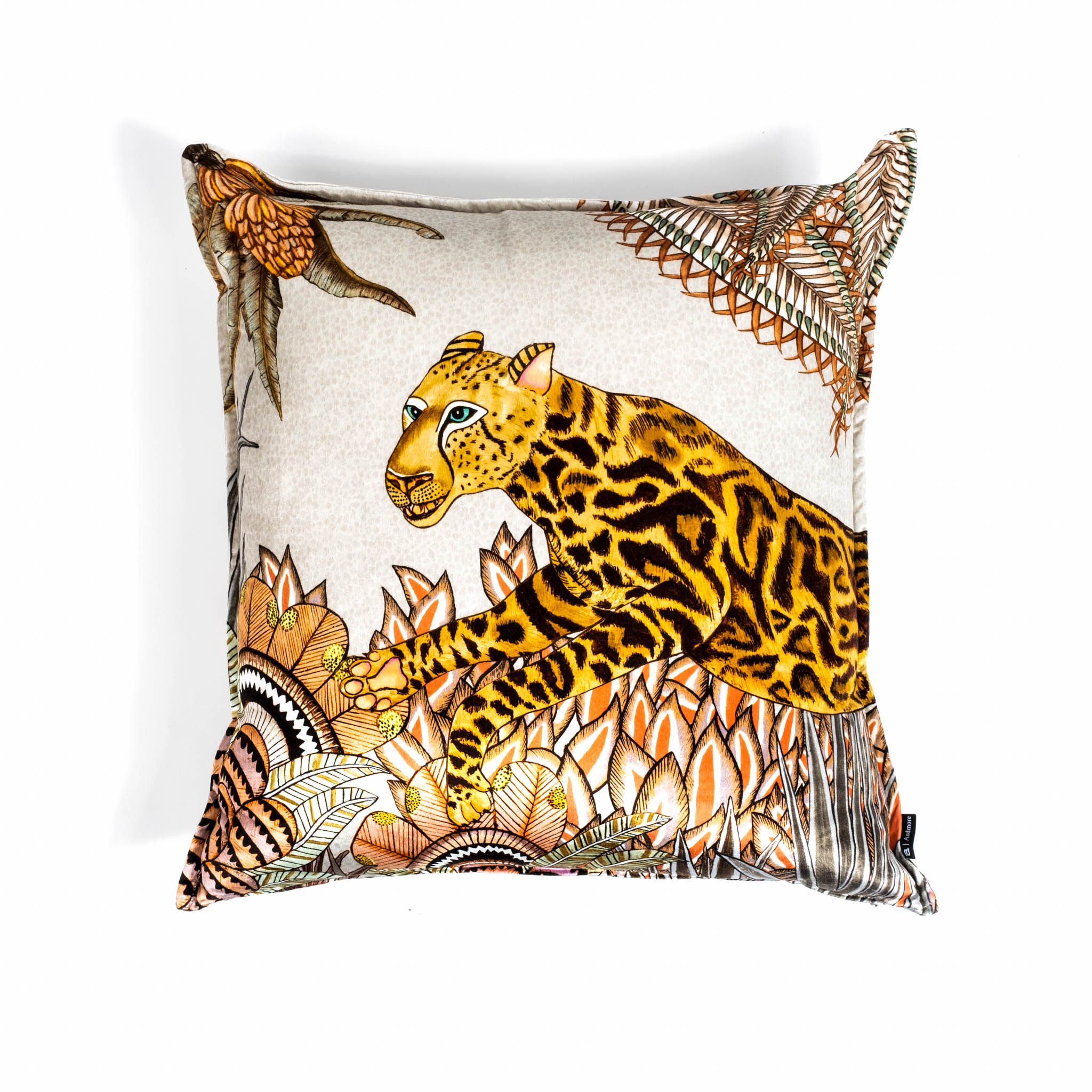 Cheetah Kings Forest Pillow - Velvet - Magnolia