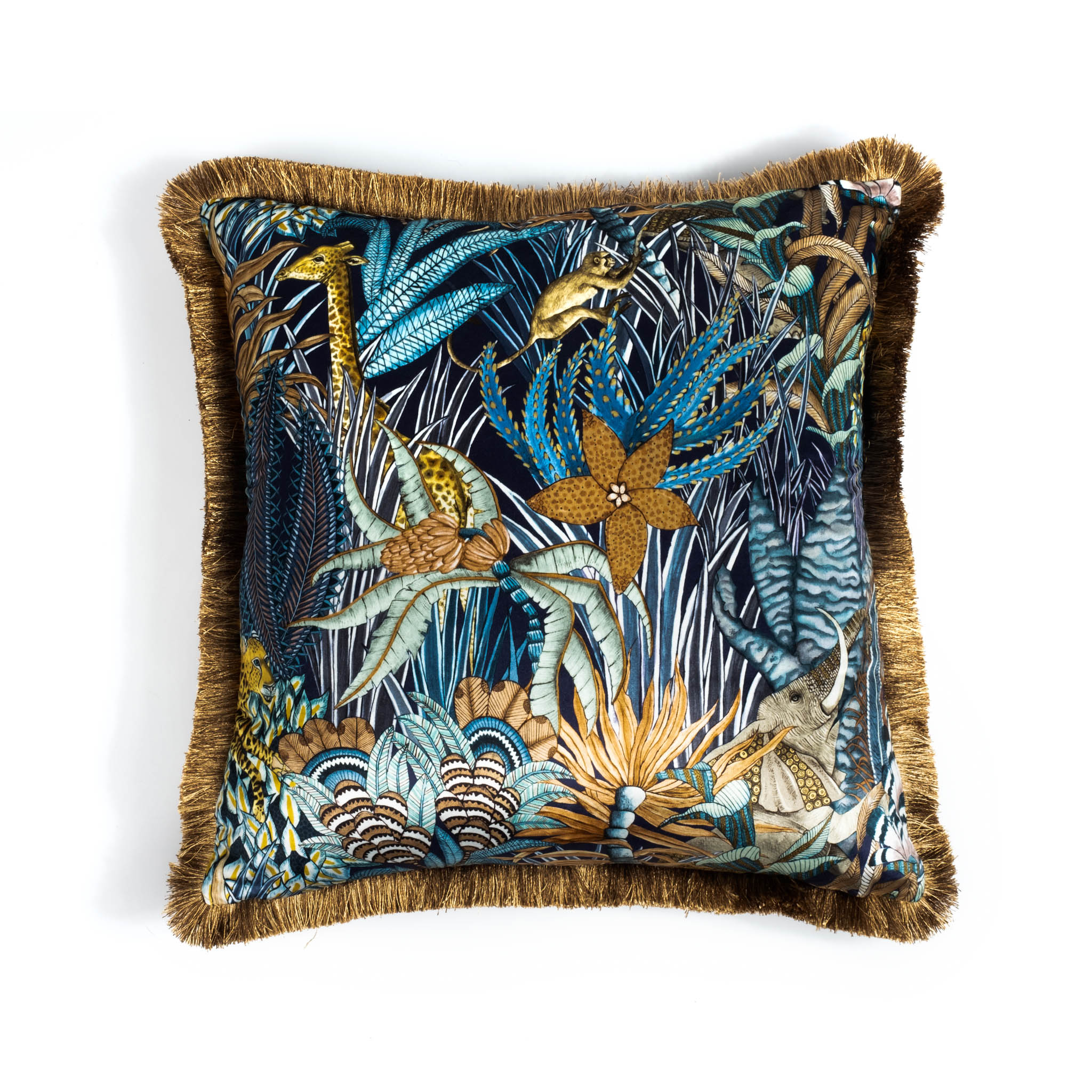 Sabie Forest Pillow - Velvet w/ Fringe - Dawn