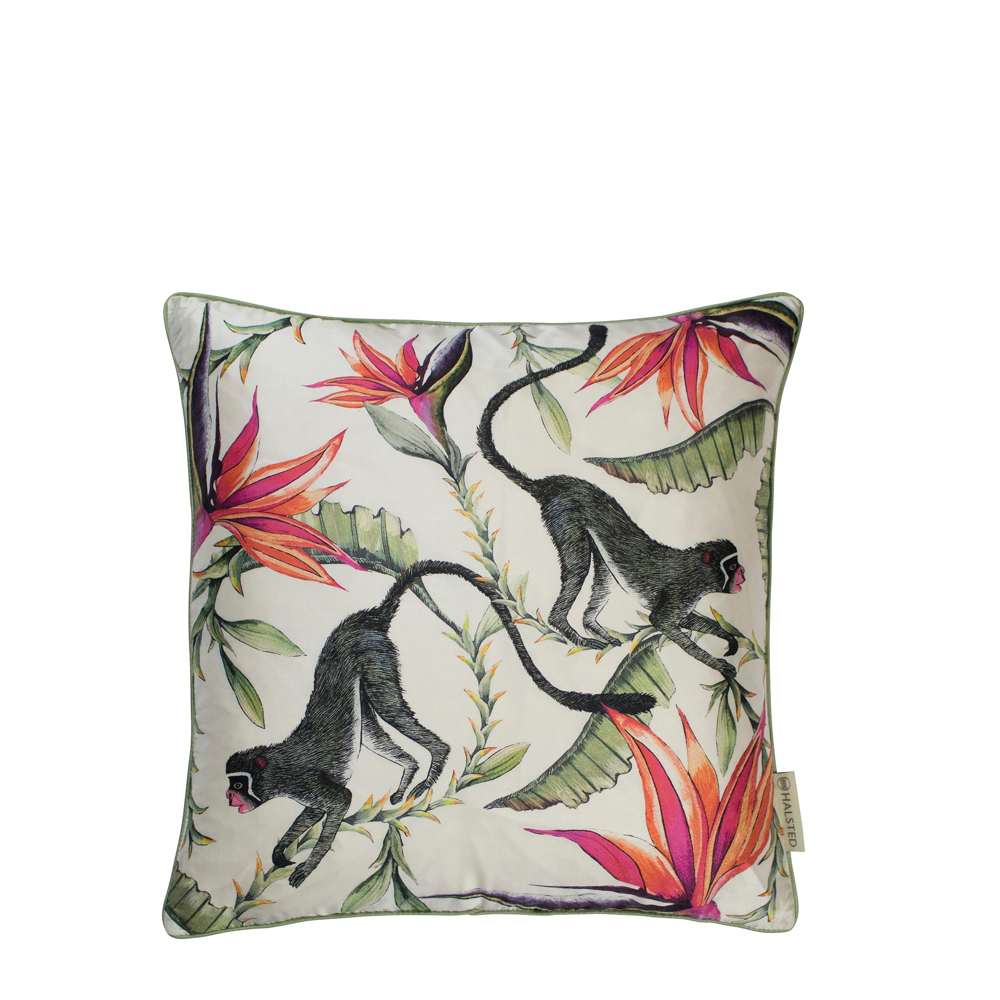 Monkey Paradise Pillow - Silk - Chalk