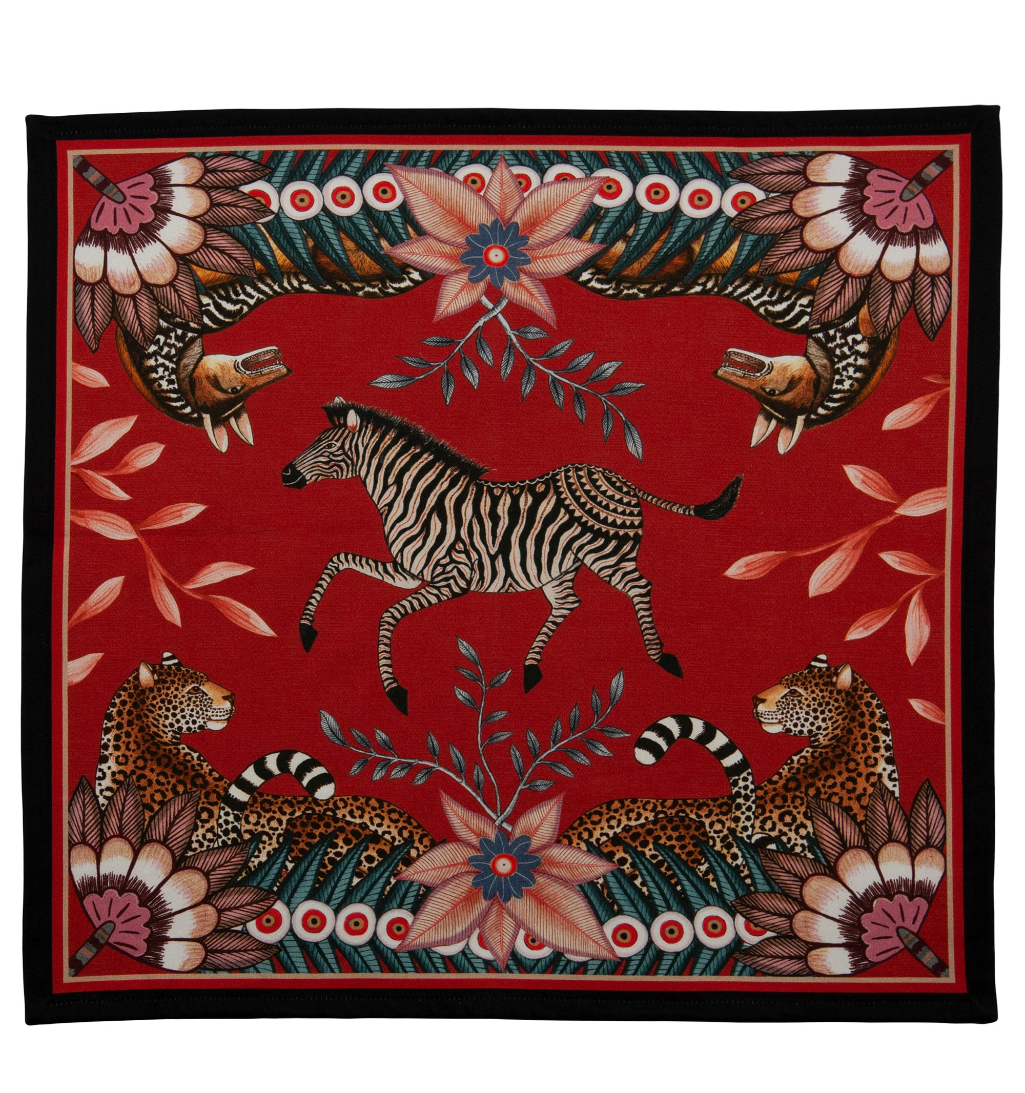 Bush Bandits Napkins (Pair) - Royal Red