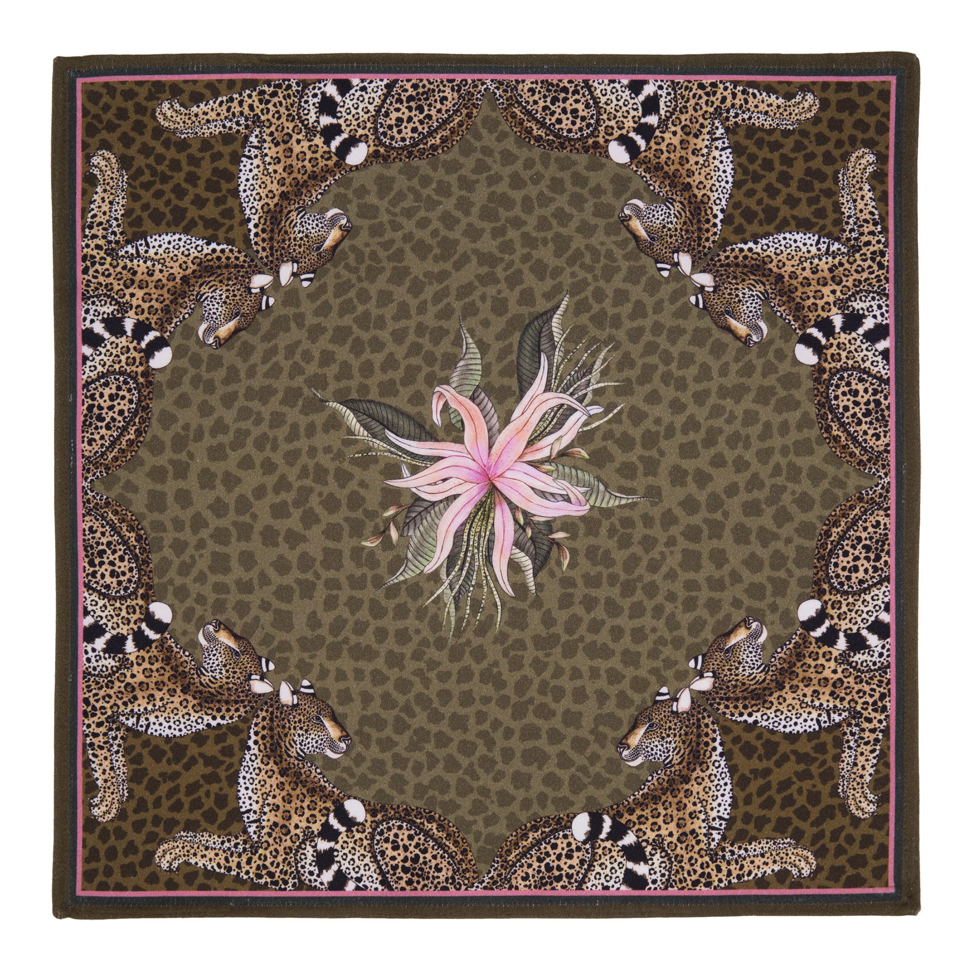Leopard Lily Napkins (Pair) - Safari