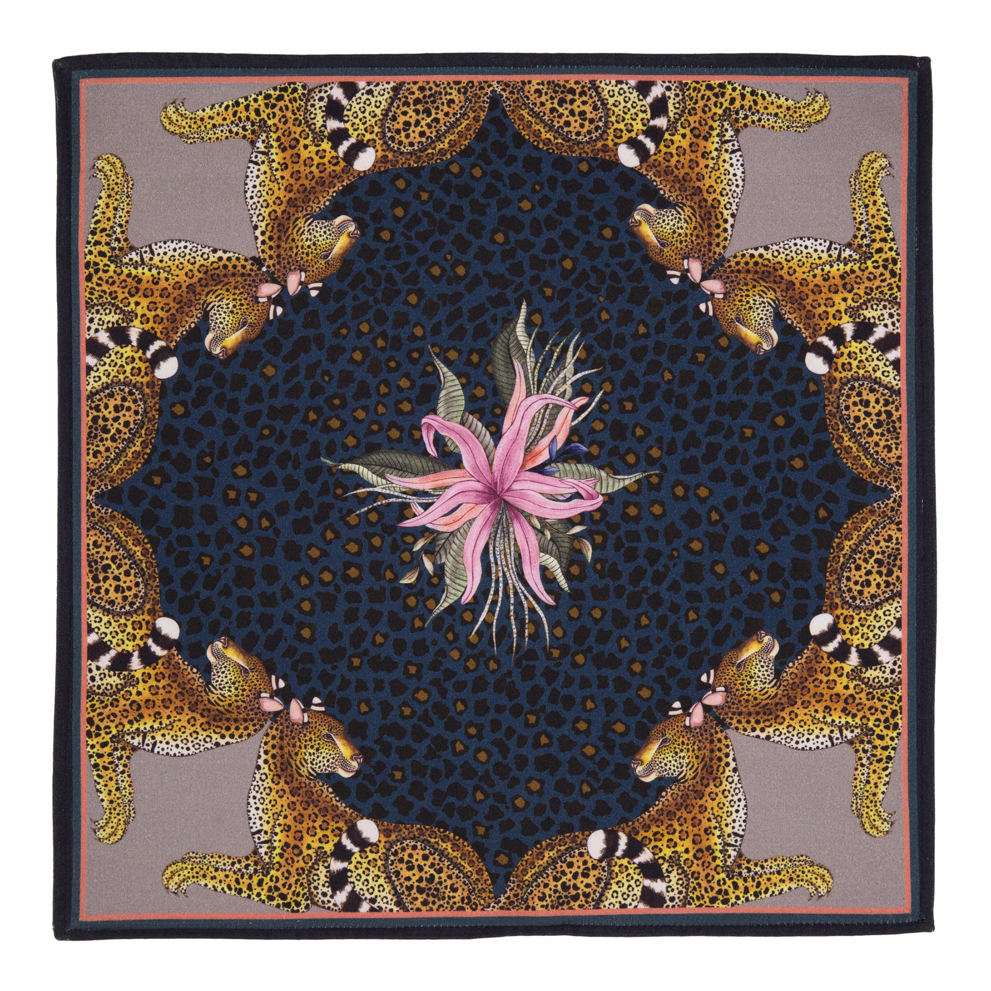 Leopard Lily Napkins (Pair) - Starry Night