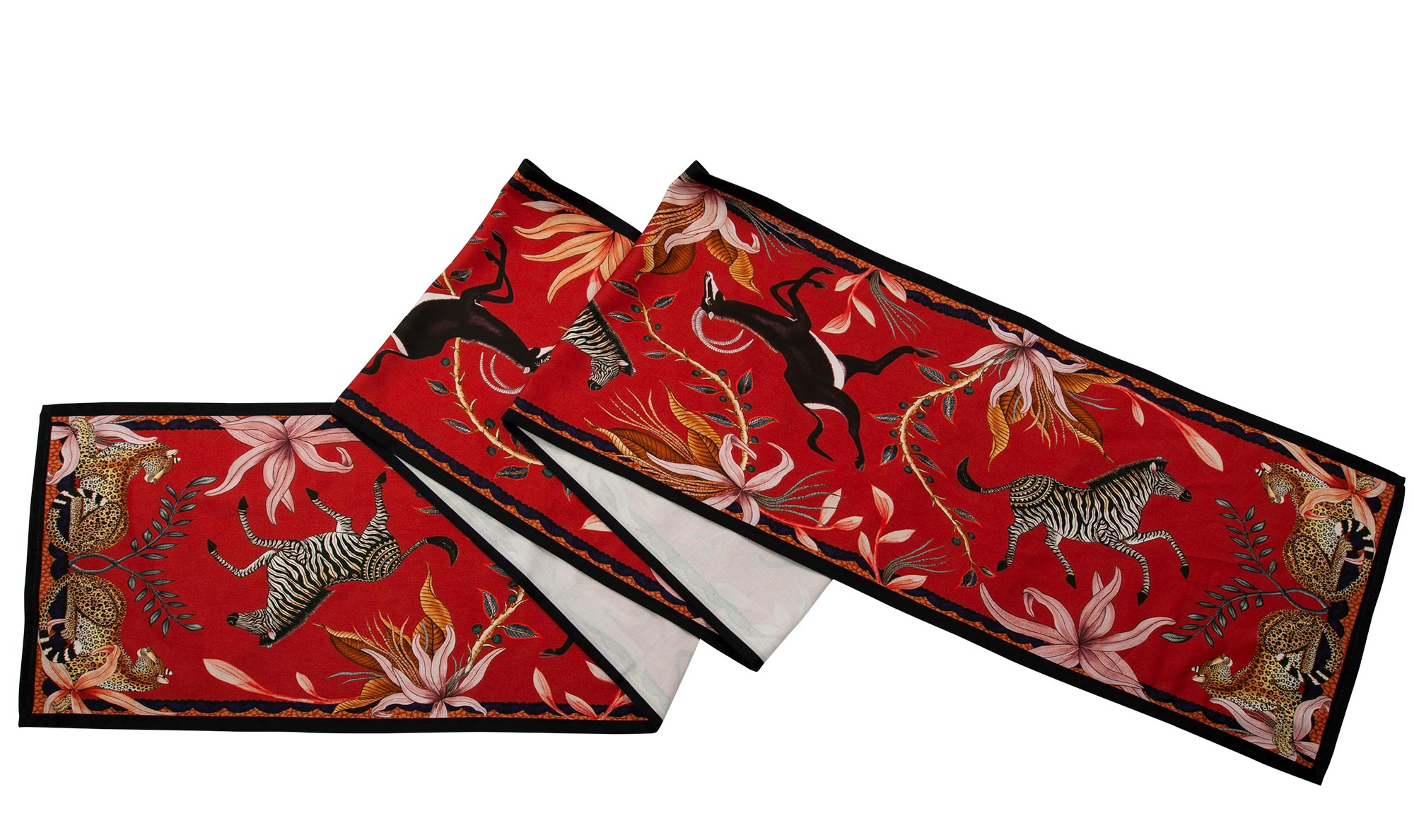 Sable Table Runner - Royal Red - Large