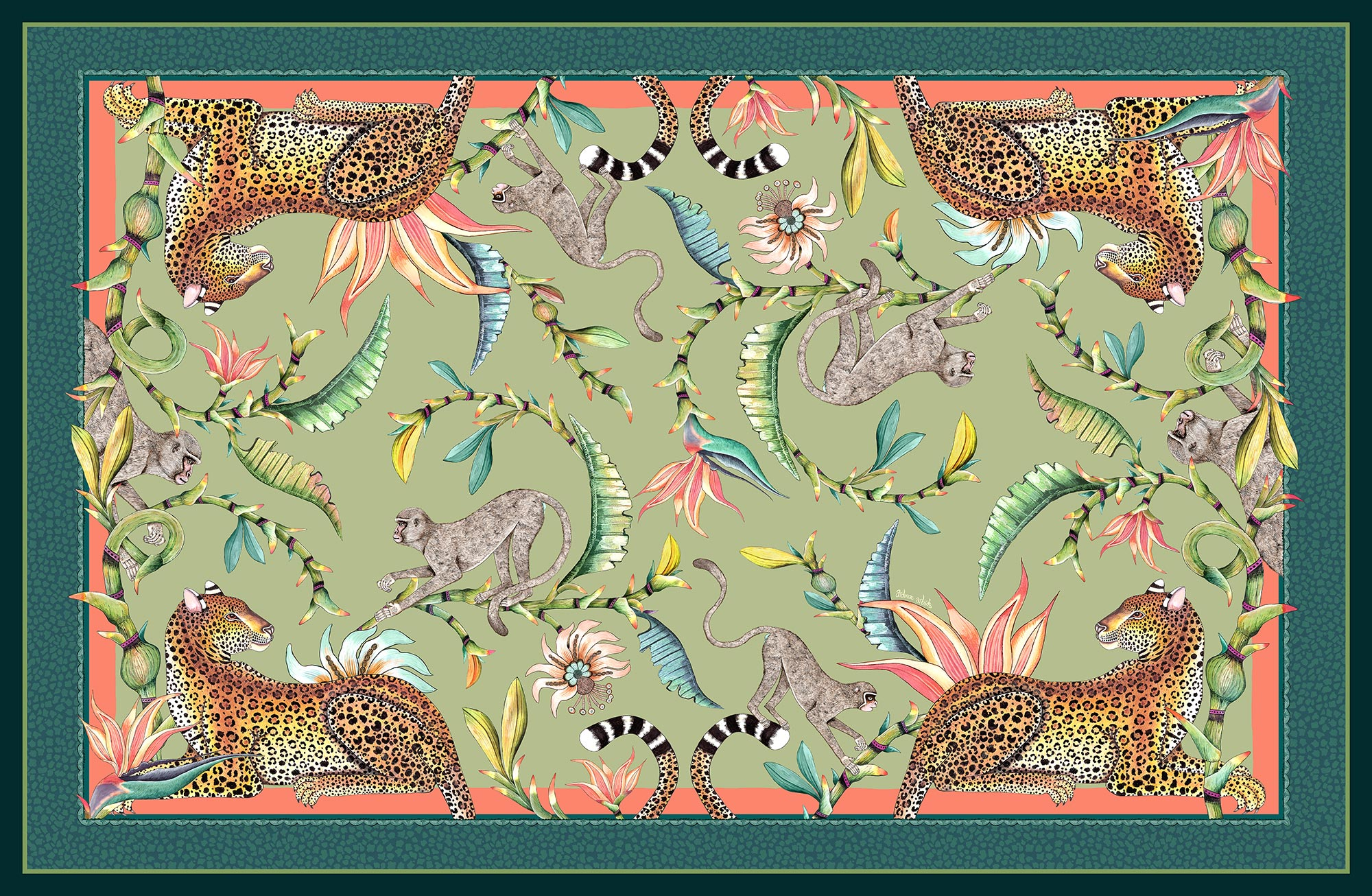 Monkey Paradise Tablecloth - Delta - Small