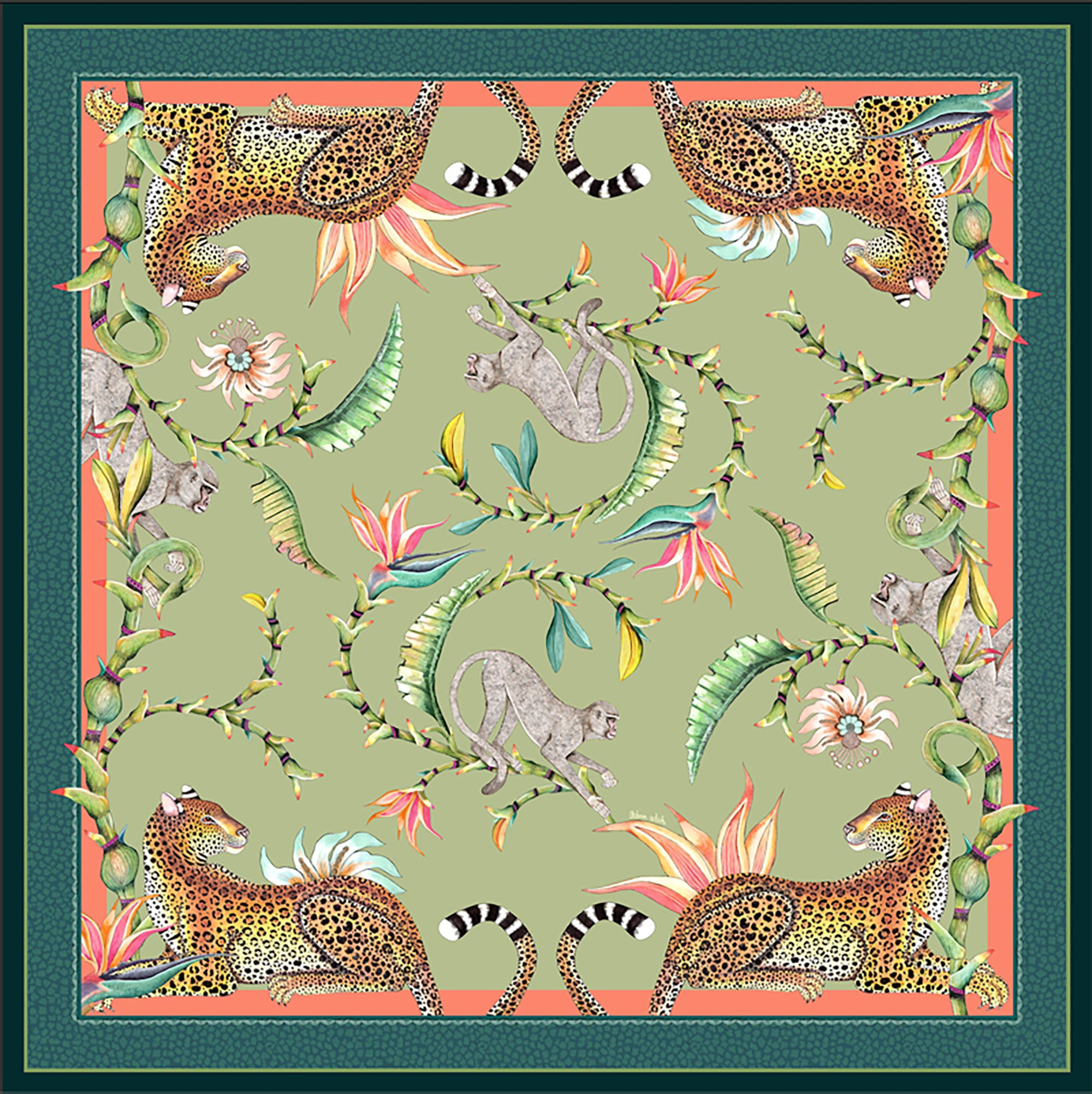 Monkey Paradise Tablecloth - Delta - Square