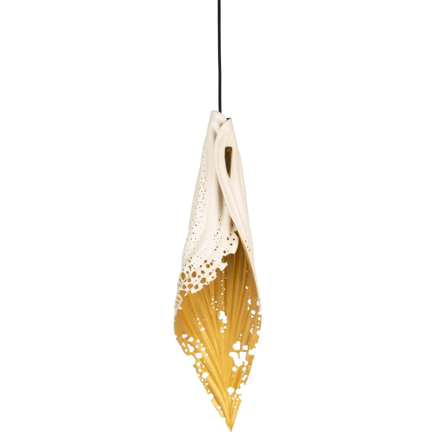 Pierced Blade Light - Large - Bone/Gold