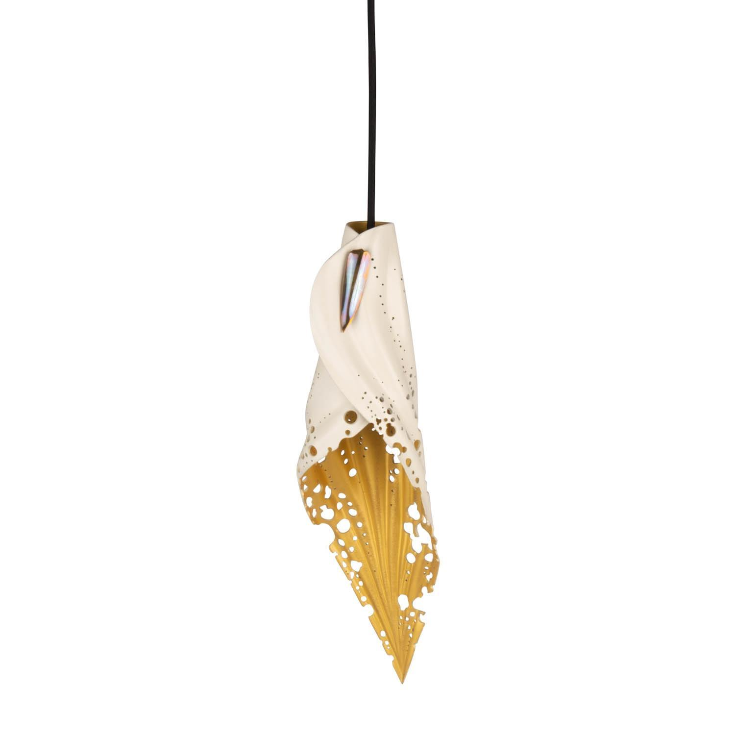 Pierced Blade Light - Small - Bone/Gold Leather