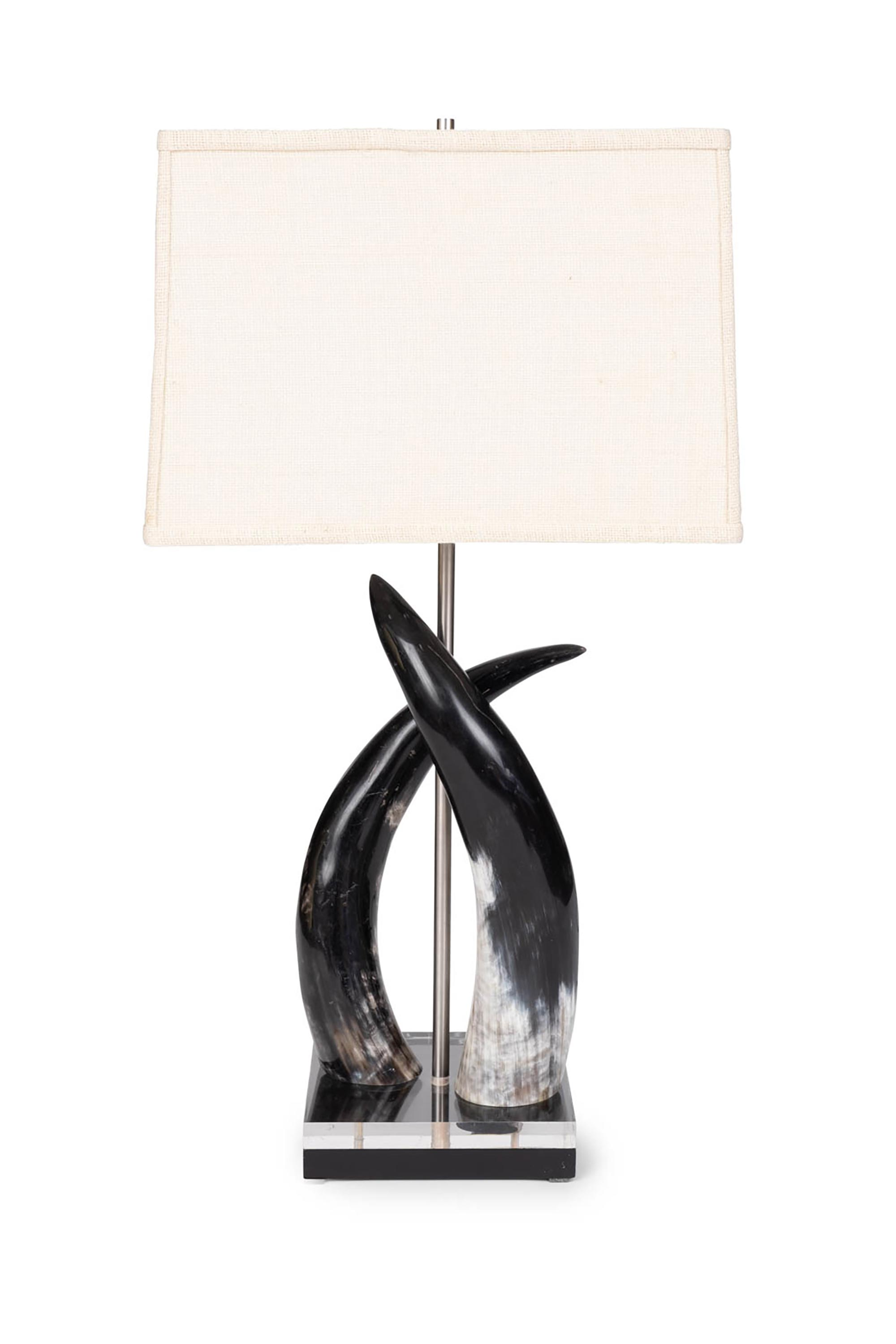 Cow Horn Duo Lamp