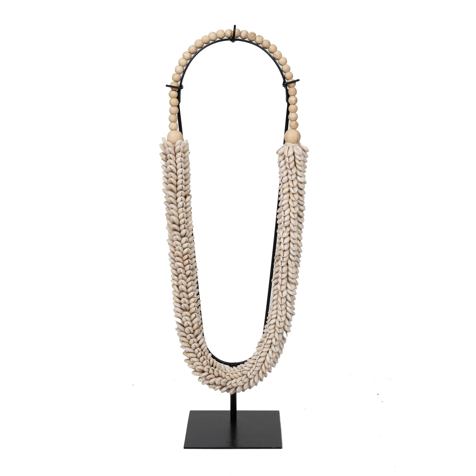 Cowry Shell Rope on Stand