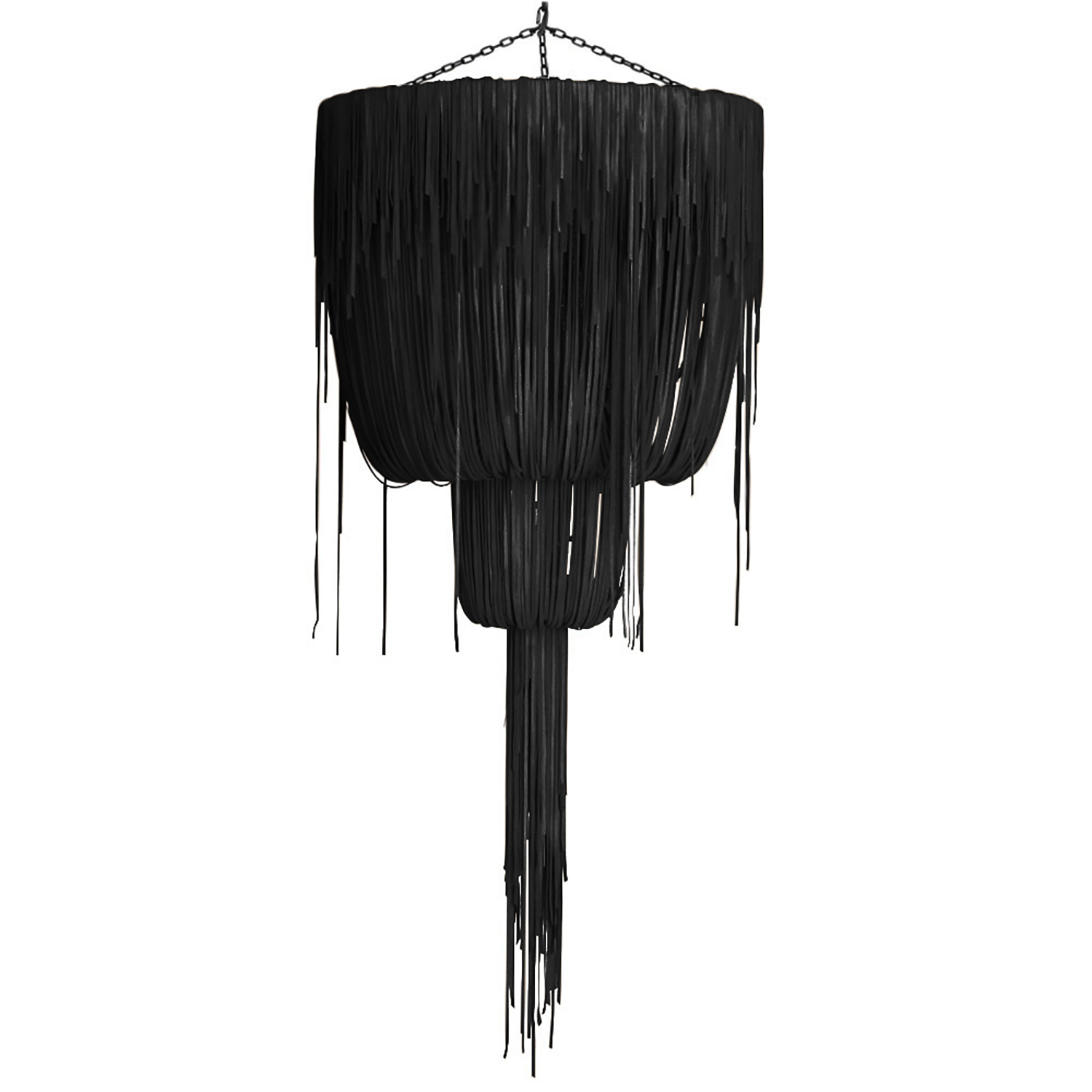 Urchin Chandelier - Large Double-Ball - Premium Leather (Made to Order)