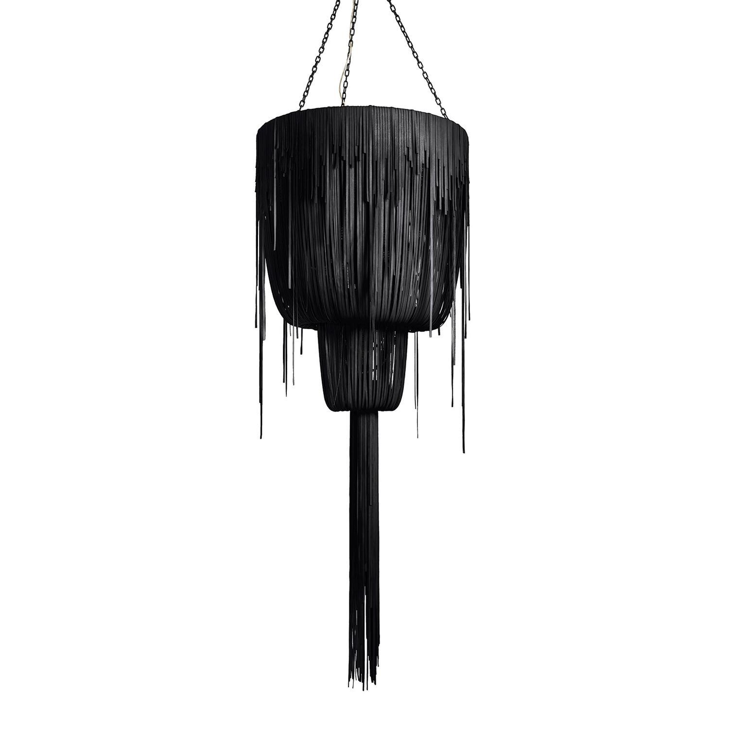 Urchin Chandelier - Medium Double-Ball - Premium Leather (Made to Order)