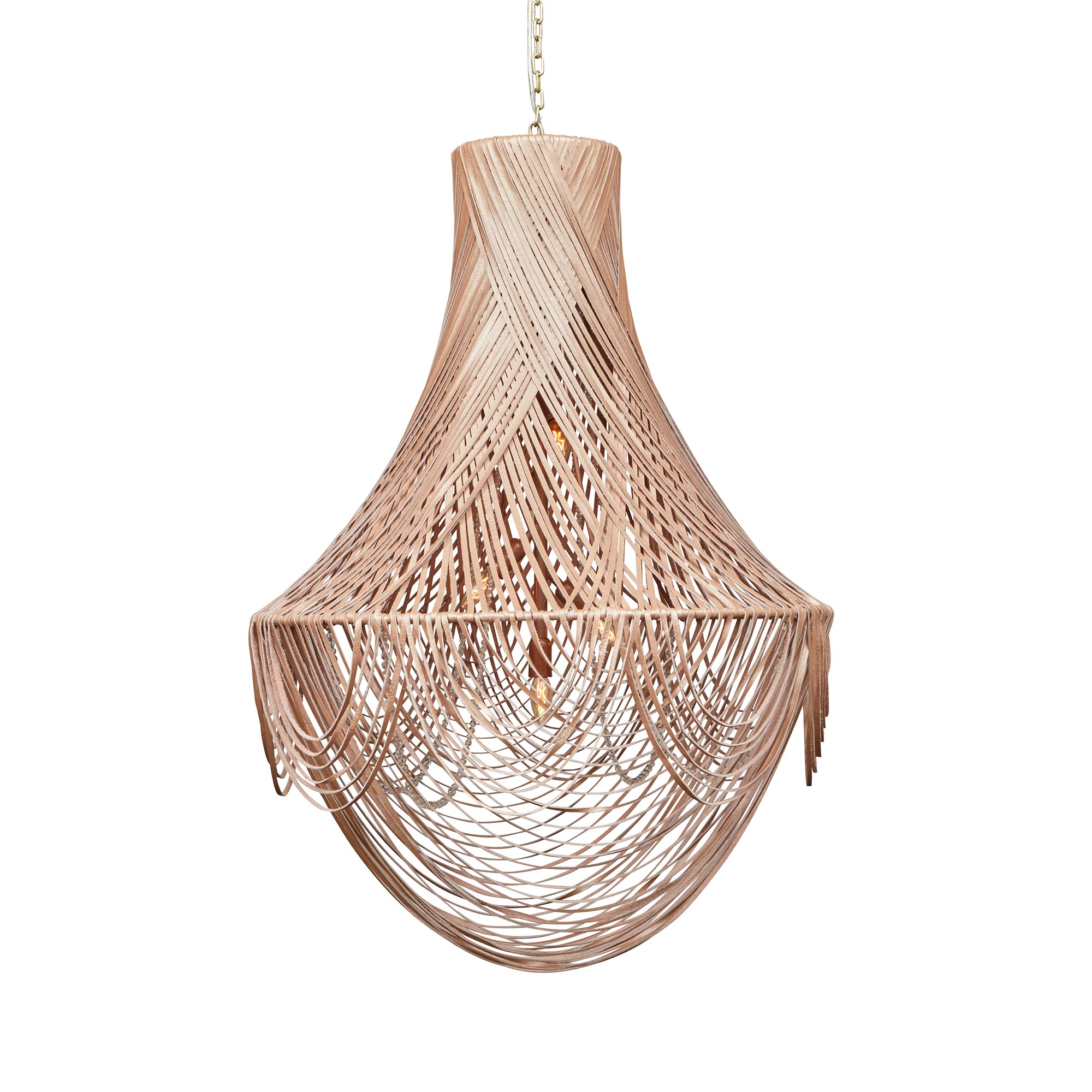 Empire Chandelier - Large - Metallic Leather (Made to Order)
