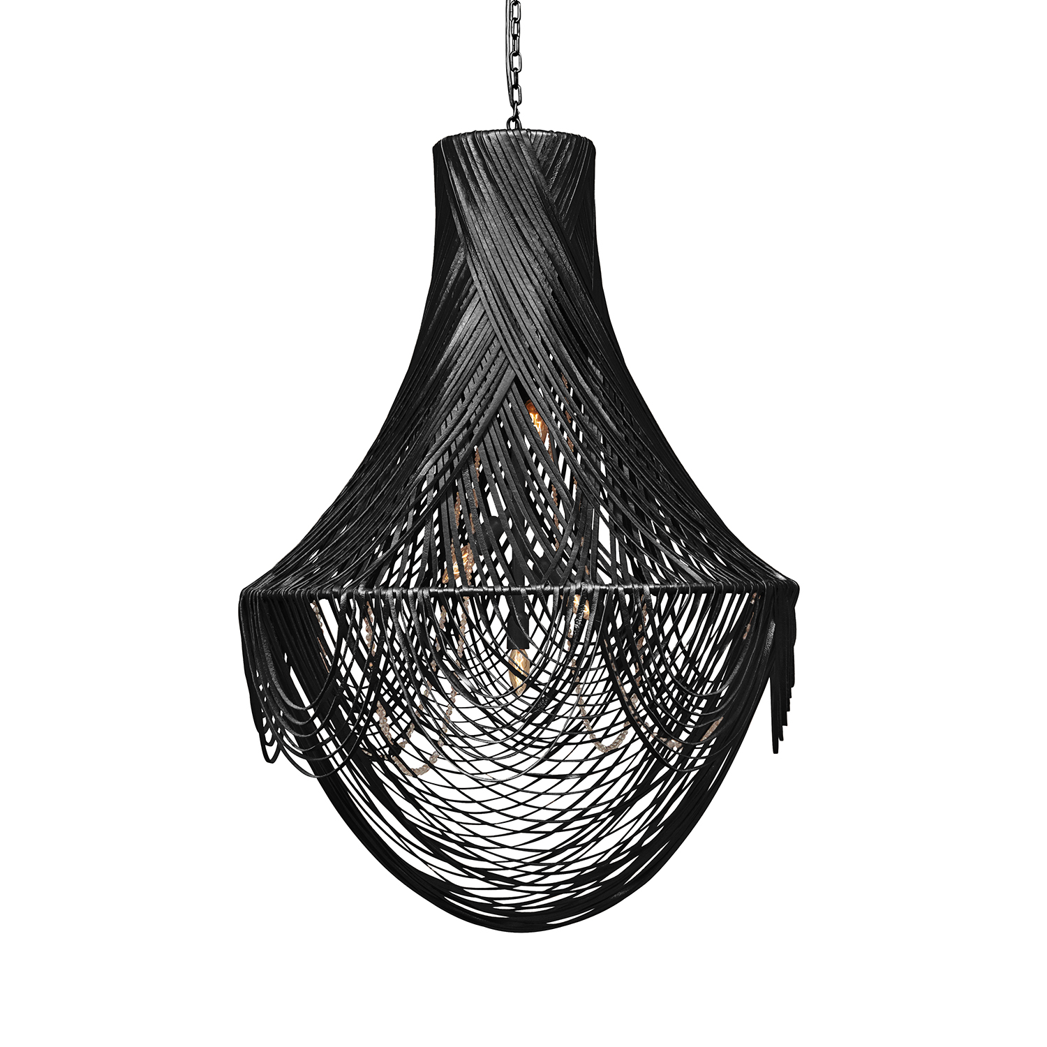 Empire Chandelier - Large - Premium Leather (Made to Order)