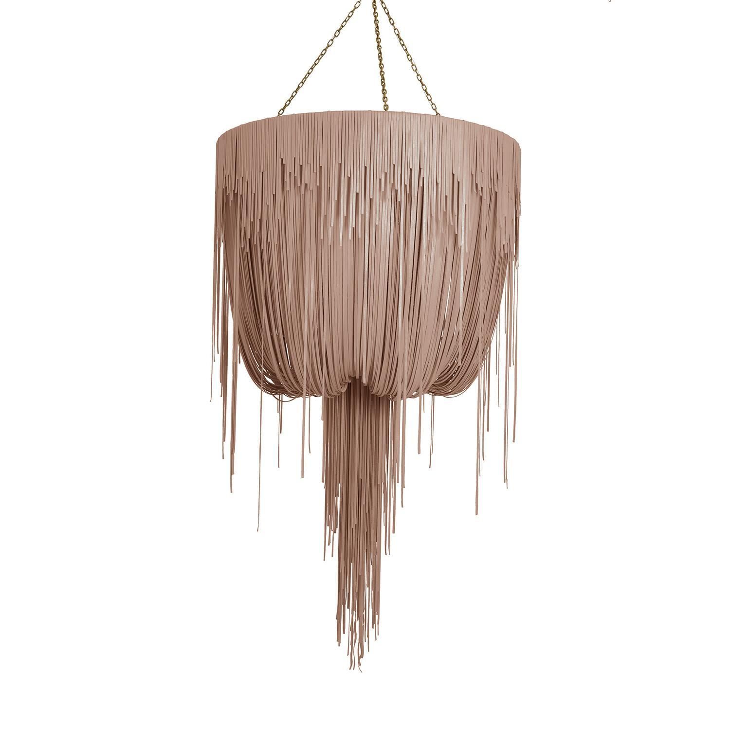 Urchin Chandelier - Large - Metallic Leather (Made to Order)