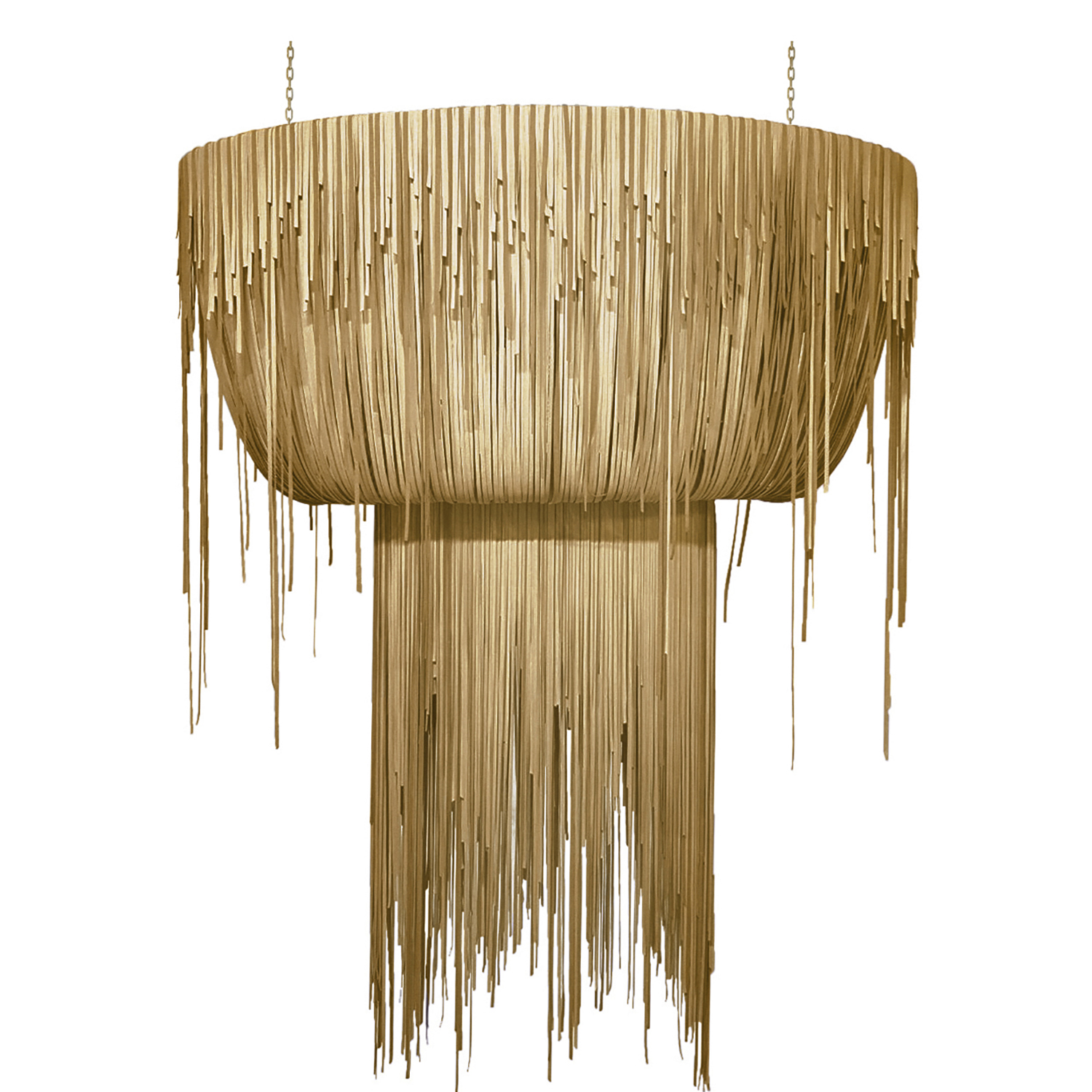 Urchin Chandelier - Oval - Large - Metallic Leather (Made to Order)
