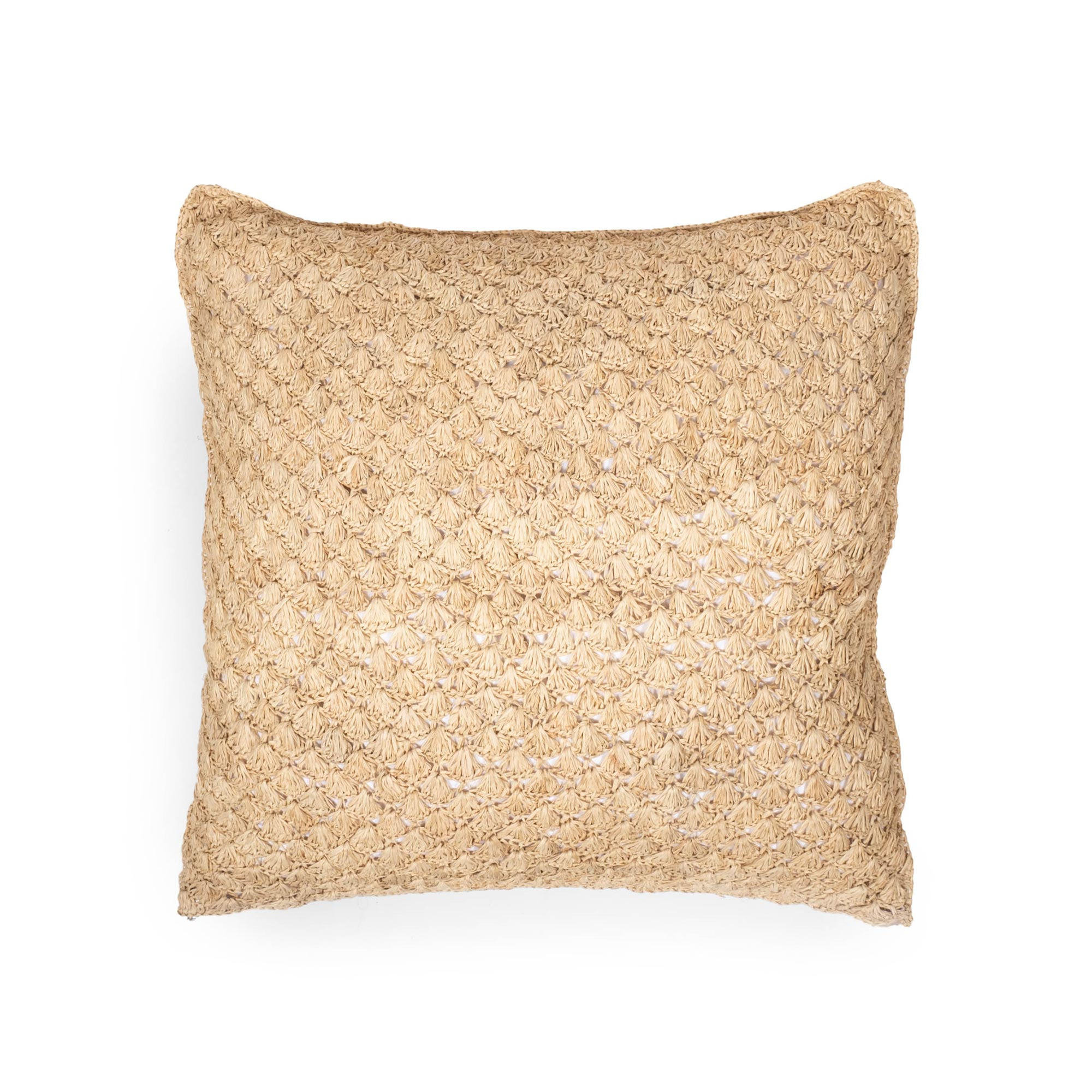 Raffia Pillow - Pineapple - Natural
