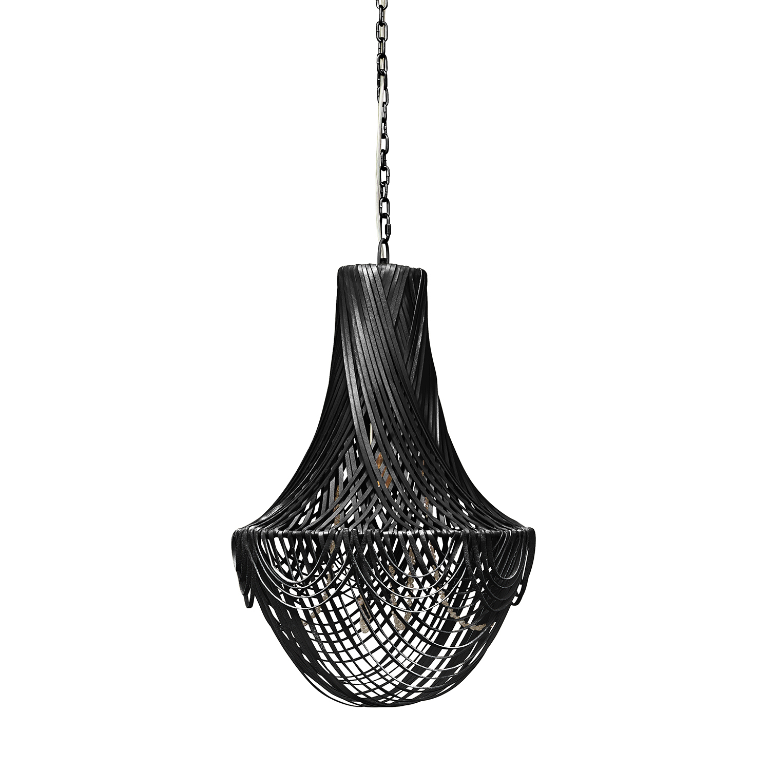 Empire Chandelier - Small - Premium Leather (Made to Order)