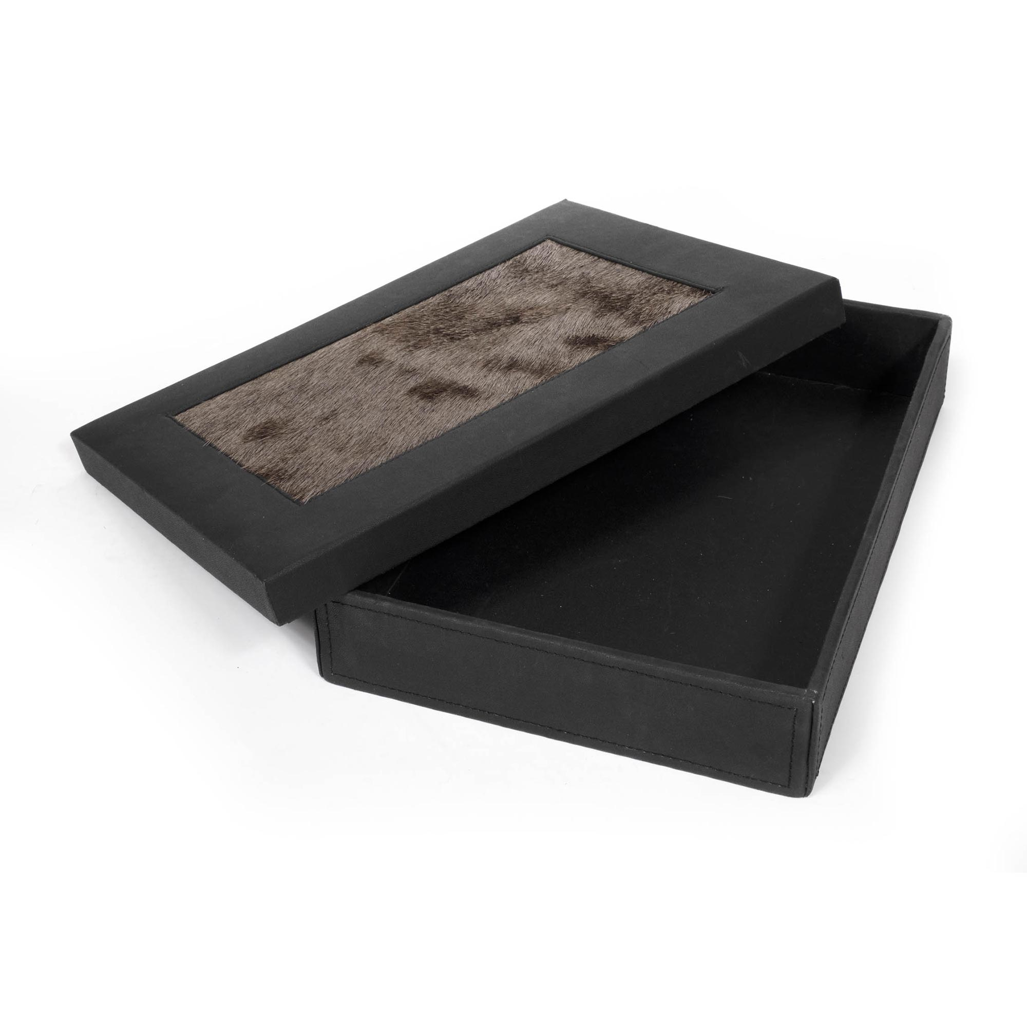 Desk Organizer Box - Wildebeest Hide