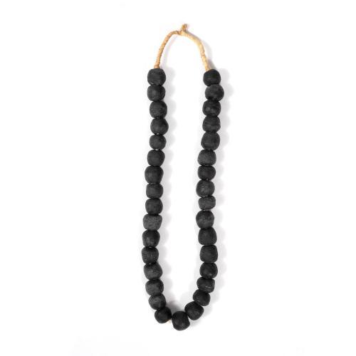 Small ghana recycle glass beads
