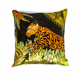 Cheetah Kings Forest Pillow - Velvet - Delta