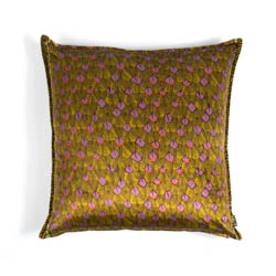 Feather Pillow - Velvet - Chartreuse