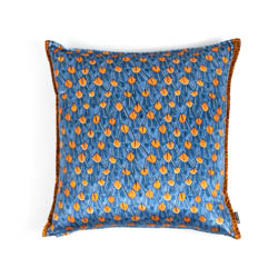 Feather Pillow - Velvet - Royal