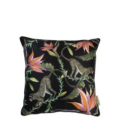 Monkey Paradise Pillow - Silk - Night