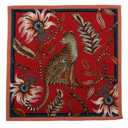 Leopard Napkins (Pair) - Royal Red