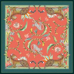 Monkey Paradise Tablecloth - Coral - Square