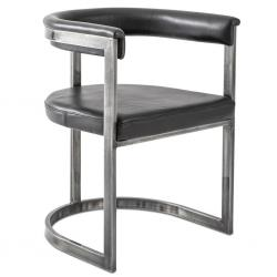 Agate Dining Chair - Aged Steel
