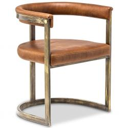 Agate Dining Chair - Bronzed Steel