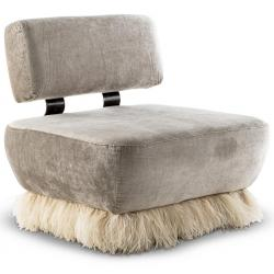 Ostrich Fluff Lounge Chair (Made to Order)