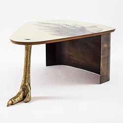 Ostrich Foot Coffee Table (Made to Order)