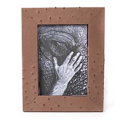 Ostrich Leather Photo Frame - Brown