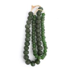 Large + Small Green Glass Beads (Large beads sold separately)