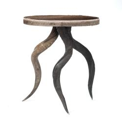 Natural Kudu Horn Table