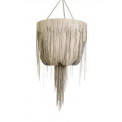 Urchin Chandelier - Large - Cream-Stone Leather
