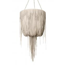Urchin Chandelier - Medium - Cream-Stone Leather