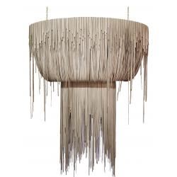 Urchin Chandelier - Oval - Large - Cream-Stone Leather