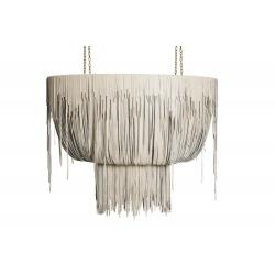 Urchin Chandelier - Oval - Medium - Cream-Stone Leather