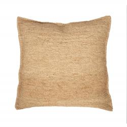 Raffia Pillow - Crochet - Natural