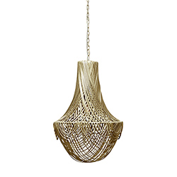 Empire Chandelier - Small - Metallic Leather (Made to Order)