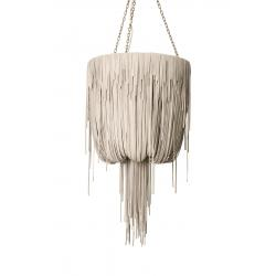 Urchin Chandelier - Small - Cream-Stone Leather