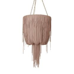 Urchin Chandelier - Small - Metallic Leather (Made to Order)