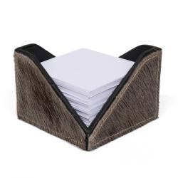 Note Paper Holder - Wildebeest Hide
